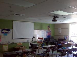 Elementary Classroom/Prior to Smartboard Installation