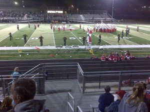 Burlington Marching Band on Arlington's Turf Field