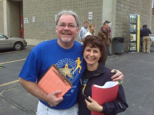 David Cook (Preseident BEF) and Paula Boermeester