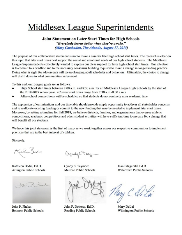 LaterStartTimesMiddlesexLeagueSuperintendents